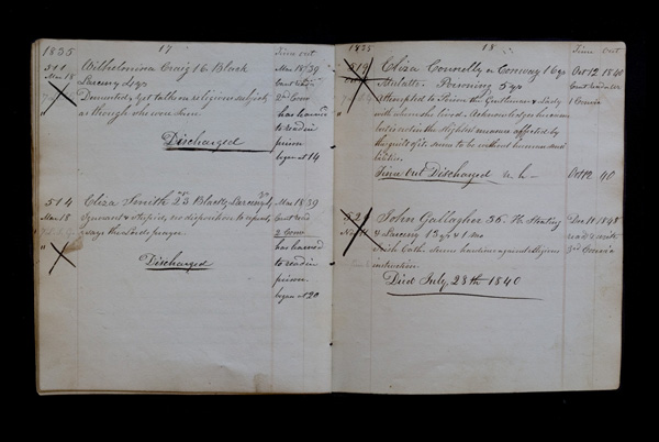 Warden's Logbook A from 1839