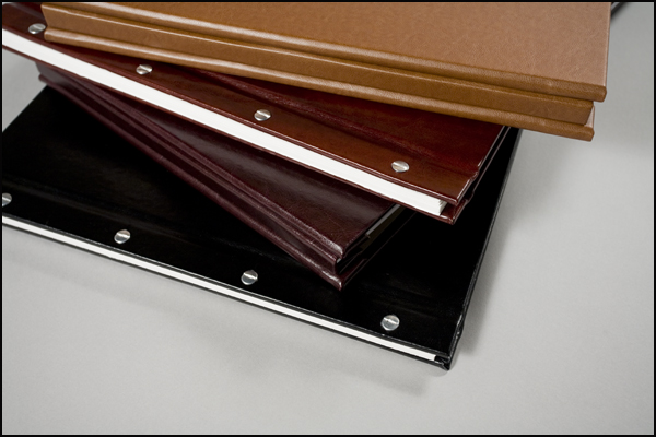Four examples of Libro Elite Leatherette Colors